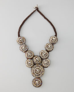 Nakamol Beaded Circle Bib Necklace