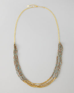 Nakamol Multi-Chain Beaded Necklace, Golden