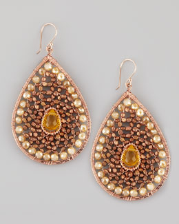 Nakamol Beaded Teardrop Earrings, Rose Golden