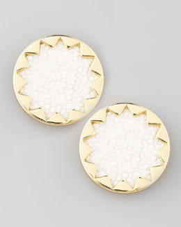 House of Harlow Sandburst Stud Earrings, White