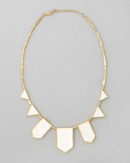 House of Harlow Five Station Necklace, White Sand