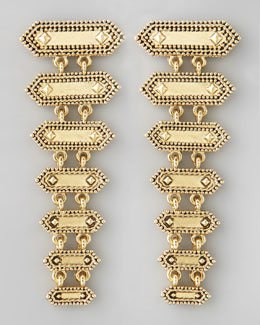 House of Harlow Tiered Boho Drop Earrings