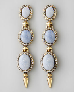 House of Harlow Blue Star Drop Earrings