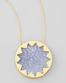 House of Harlow Sunburst Pendant Necklace, Blue Star