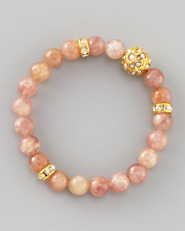 Les Amis Dhol Jaali Beaded Bracelet, Golden
