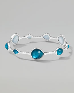 Ippolita Wonderland Silver Teardrop Bangle, Malibu