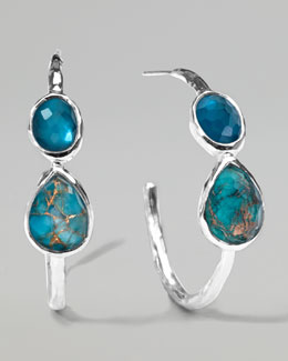 Ippolita Wonderland Silver Gelato #2 Hoop Earrings, Malibu