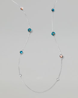 "Ippolita Wonderland Silver Lollipop Necklace 37"", Malibu"