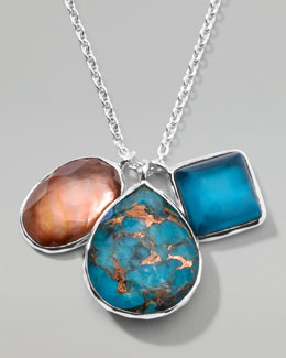 Ippolita Wonderland Triple-Charm Pendant Necklace