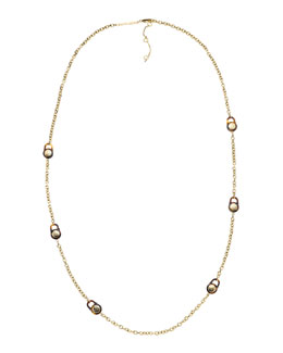 Michael Kors  Padlock Station Necklace, Golden
