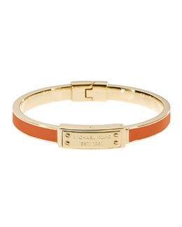 Michael Kors  Skinny Logo-Plaque Bangle, Tangerine/Golden