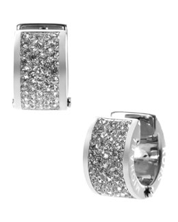 Michael Kors  Pave Crystal Hug Earrings,