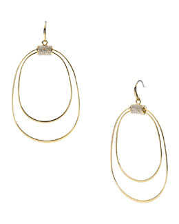 Michael Kors  Whisp Pave Orbital Earrings, Golden