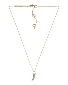 Michael Kors  Pave Horn Pendant Necklace, Golden