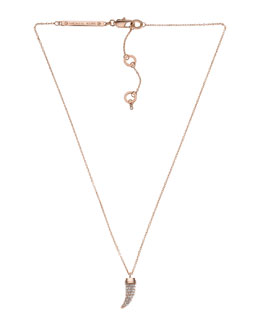 Michael Kors  Pave Horn Pendant Necklace, Rose Golden