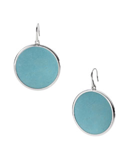 Michael Kors  Turquoise Slice Drop Earrings, Silver Color