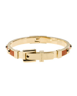 Michael Kors  Astor Stud Buckle Bangle, Golden/Orange