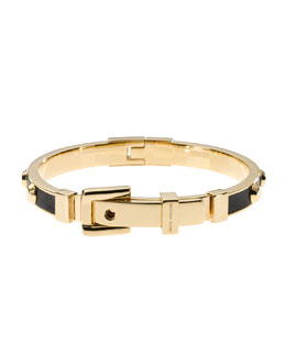 Michael Kors  Astor Stud Buckle Bangle, Golden/Black