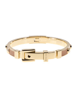 Michael Kors  Astor Stud Buckle Bangle, Golden/Luggage