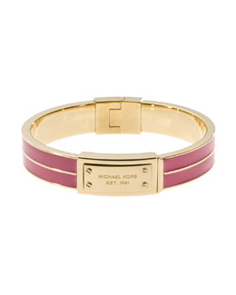 Michael Kors  Plaque Hinge Bangle, Golden/Zinnia