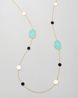 Ippolita Polished Rock Candy Multi-Stone Station Necklace, 37""