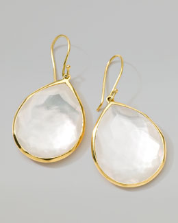 Ippolita 18k Gold Rock Candy Large Mother-of-Pearl Teardrop Earrings