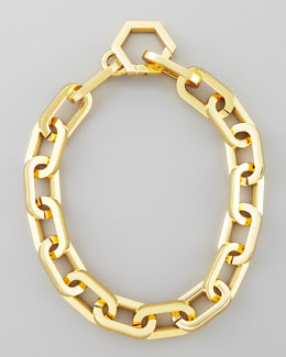 Tory Burch Heidi Gold Plate Chain Necklace