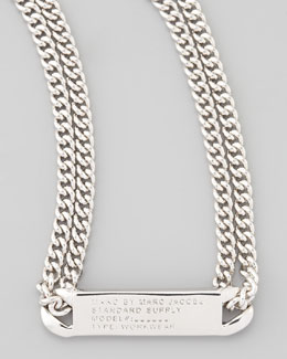 MARC by Marc Jacobs Chain Loop Standard Supply Necklace, Silvertone