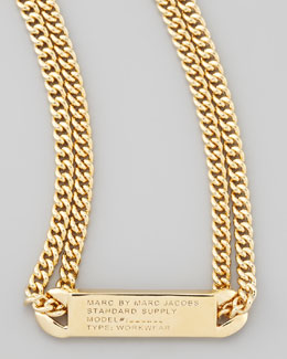 MARC by Marc Jacobs Chain Loop Standard Supply Necklace, Yellow Golden