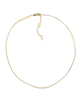 Michael Kors  Pave Bar Necklace, Golden