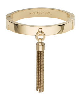 Michael Kors  Tassel Hinge Bangle, Golden