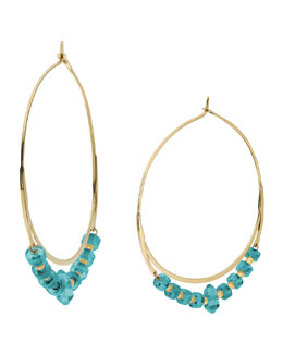 Michael Kors  Whisper Hoop Earrings, Turquoise