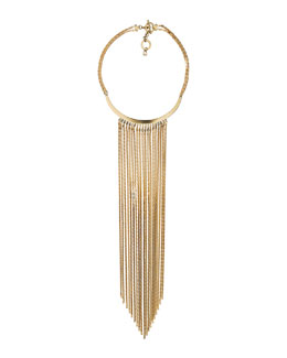 Michael Kors  Fringe Collar Necklace, Golden