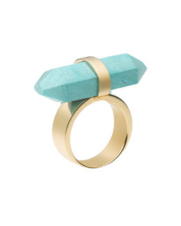 Michael Kors  Rock Crystal Ring, Turquoise