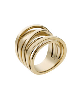 Michael Kors  Large Interwoven Ring, Golden