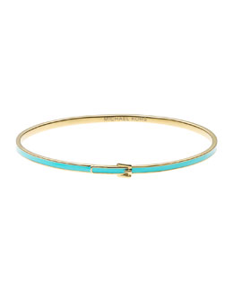 Michael Kors  Skinny Buckle Bangle, Golden/Turquoise