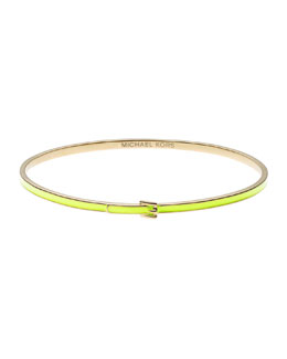 Michael Kors  Skinny Buckle Bangle, Golden/Yellow