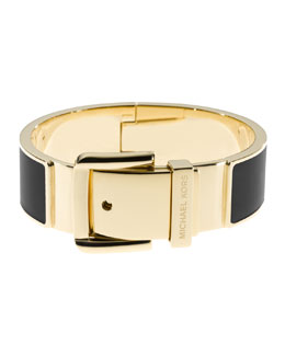Michael Kors  Wide Buckle Bangle, Golden/Black