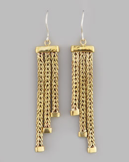 Karen London Goddess Square Weave Earrings