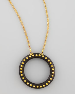 Karen London Locals Only Studded O-Ring Pendant Necklace
