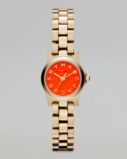 MARC by Marc Jacobs Yellow Golden Sunray Watch, Fluoro Orange