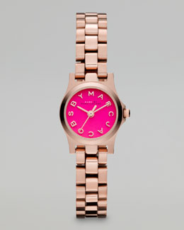 MARC by Marc Jacobs Rose Golden Sunray Watch, Knockout Pink