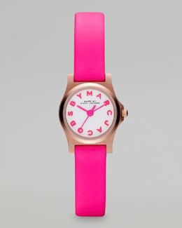 MARC by Marc Jacobs Enamel Dial Rose Golden Watch, White/Pink