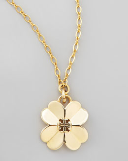 Tory Burch Shawn Floral Pendant Necklace