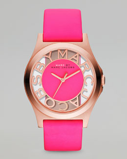 MARC by Marc Jacobs Sunray Dial Watch, Knockout Pink