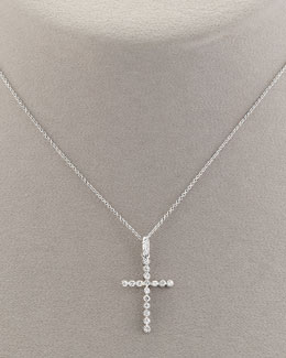 Roberto Coin Large Diamond Cross Necklace