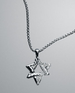David Yurman Star of David Crossover Necklace