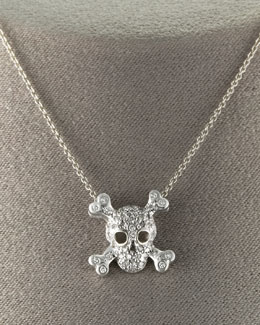 "Roberto Coin Skull Necklace, 16""L"