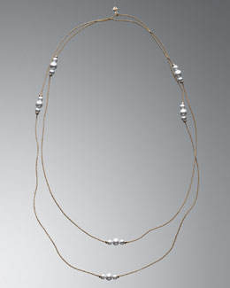David Yurman 7mm Pearl Chain Necklace