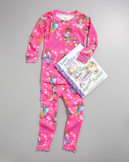Books To Bed Fancy Nancy Pajama and Book Set, Sizes 8-10